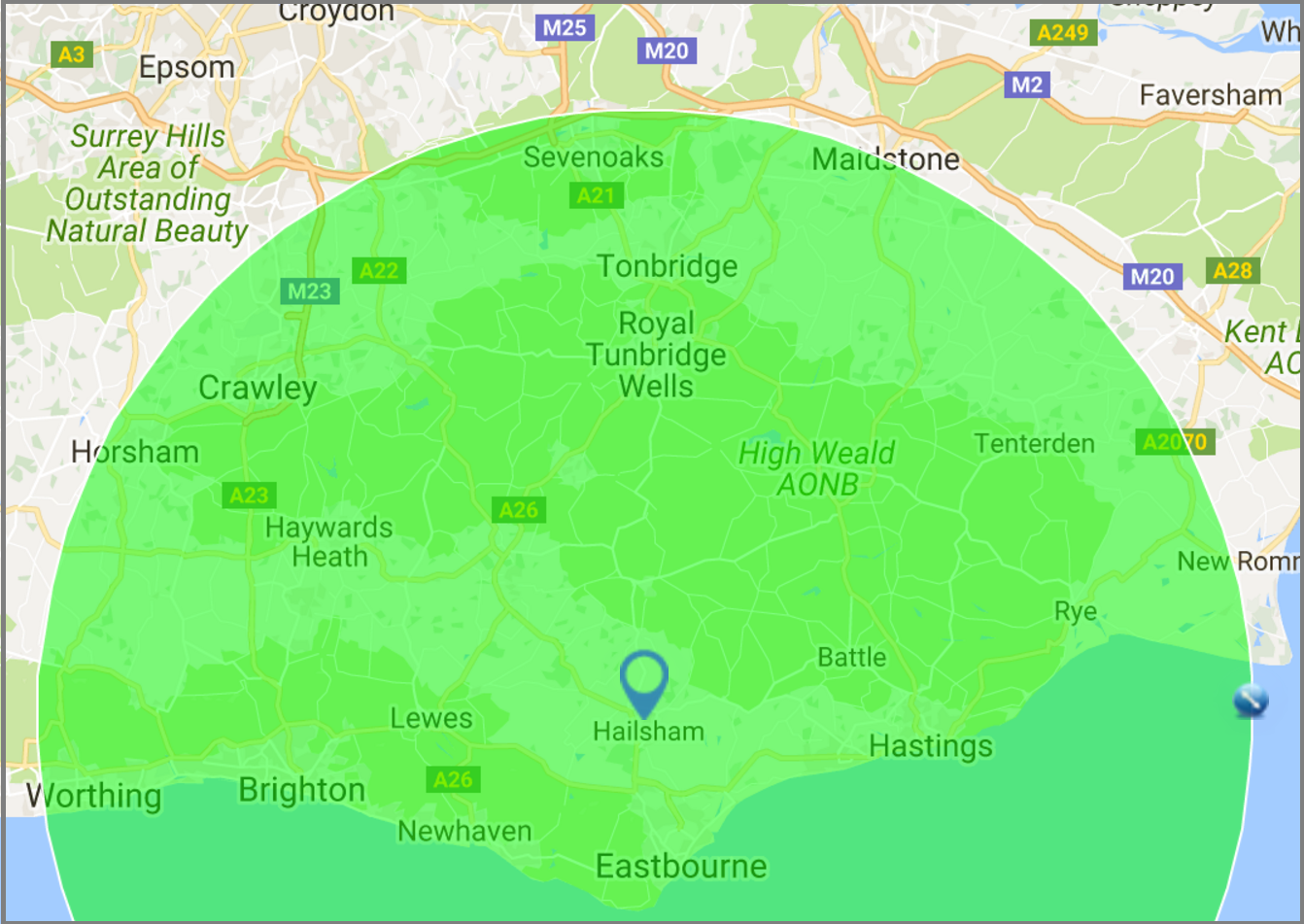 30 mile radius from Hailsham for your driveways, groundwork, drainage or commercial project